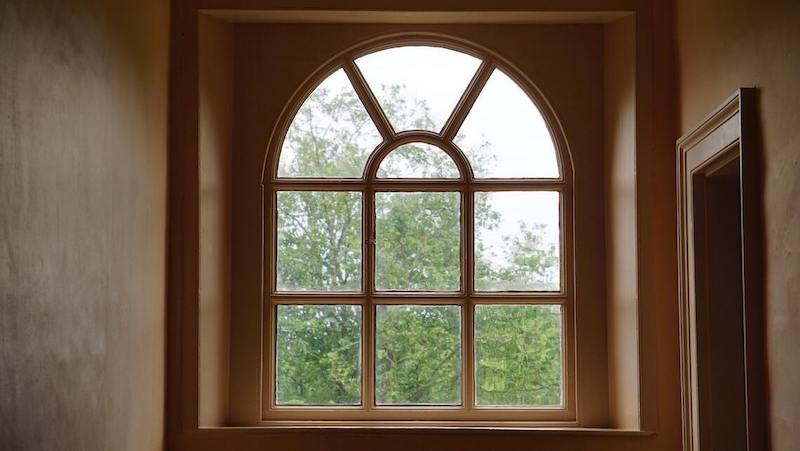 Photo Of A Finished ​​Window Repairs Project Before It Has Been Painted.